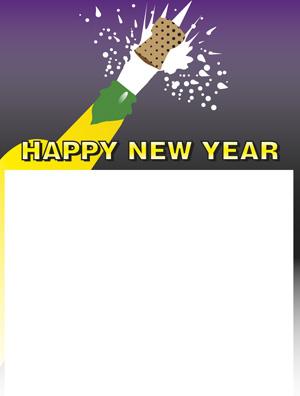Etiqueta de Año Nuevo